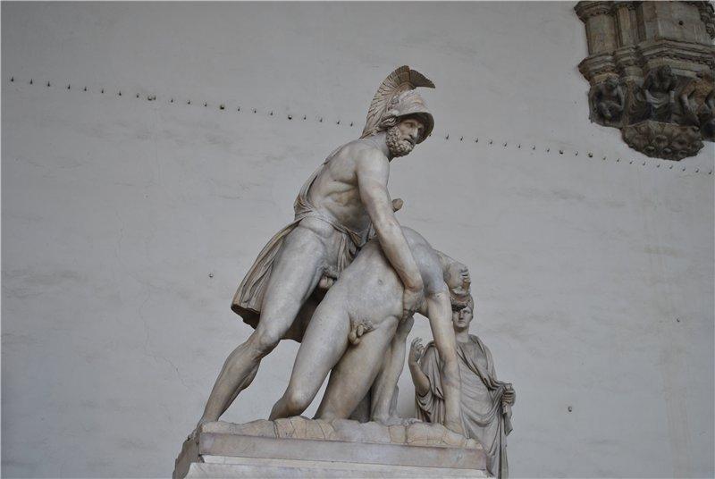 скульптура Менелай с телом Патрокла во Флоренции
